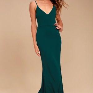 Dark Blue Green Infinite LuLu's Formal Dress